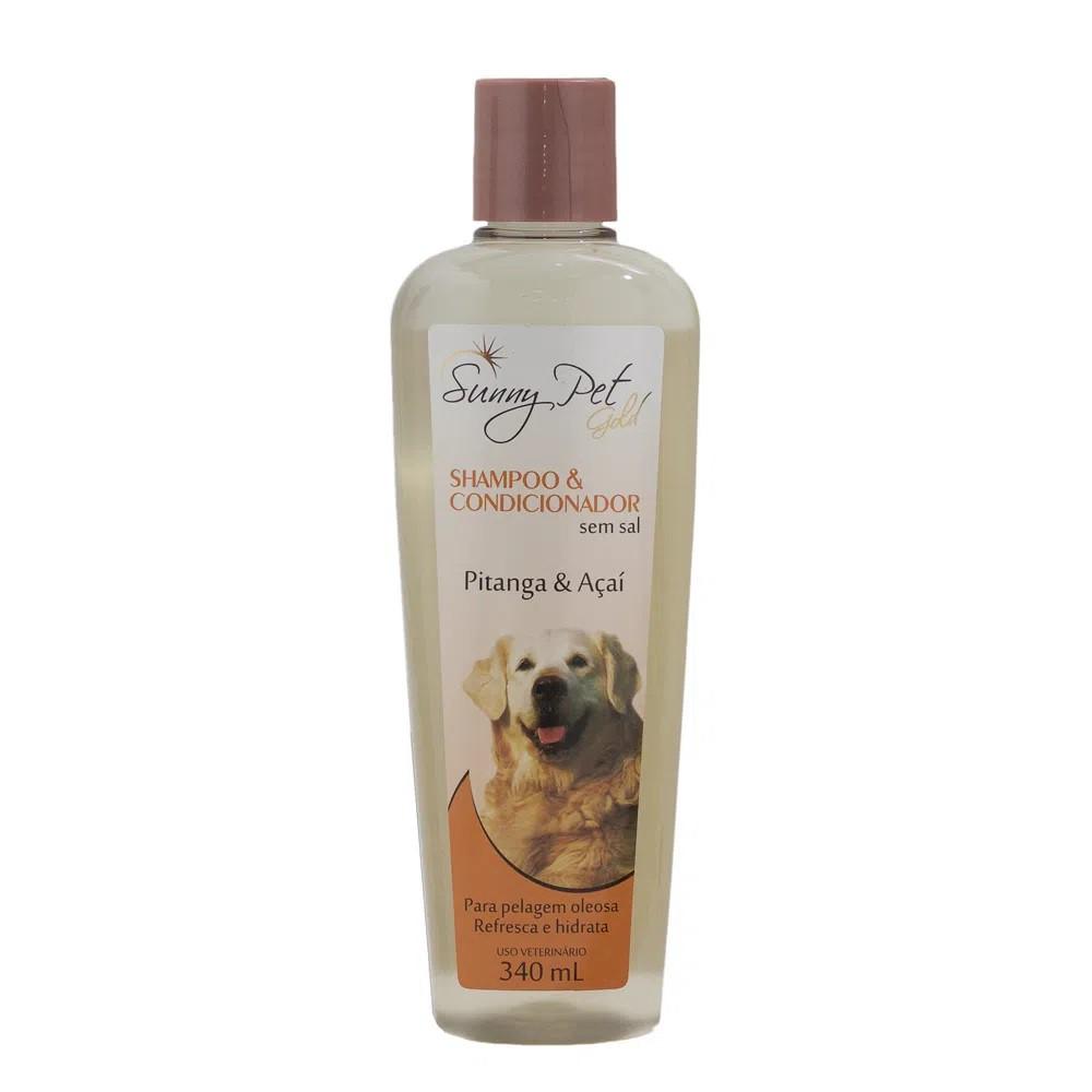 Shampoo e Condicionador Pitanga e Açaí Sem Sal 340ml - Sunny Pet