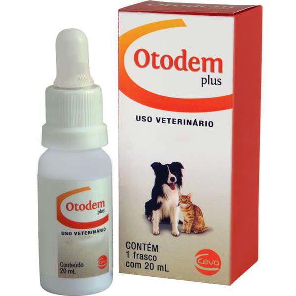 Solução Otológica e Dermatológica para Cães e Gatos Otodem Plus (20ml) - Ceva