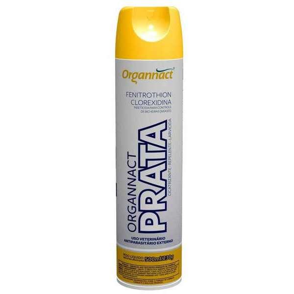 Spray Antiparasitário Externo Prata 500ml/230g - Organnact