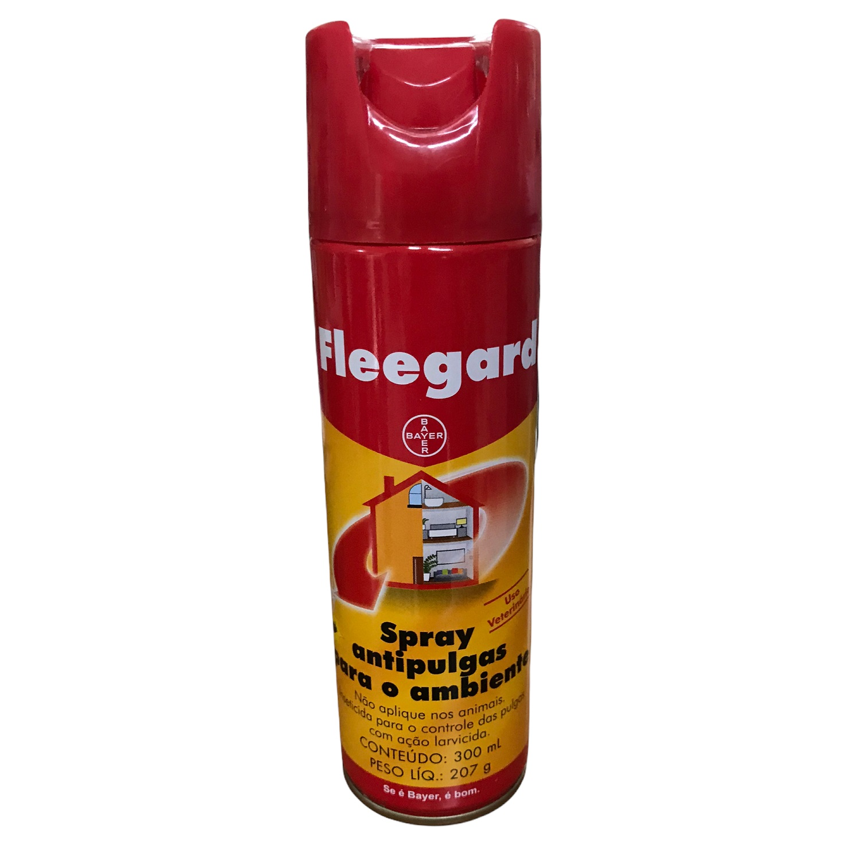 Spray Antipulgas para o Ambiente Fleegard 300ml (207g) - Bayer ( Validade Novembro/2021)