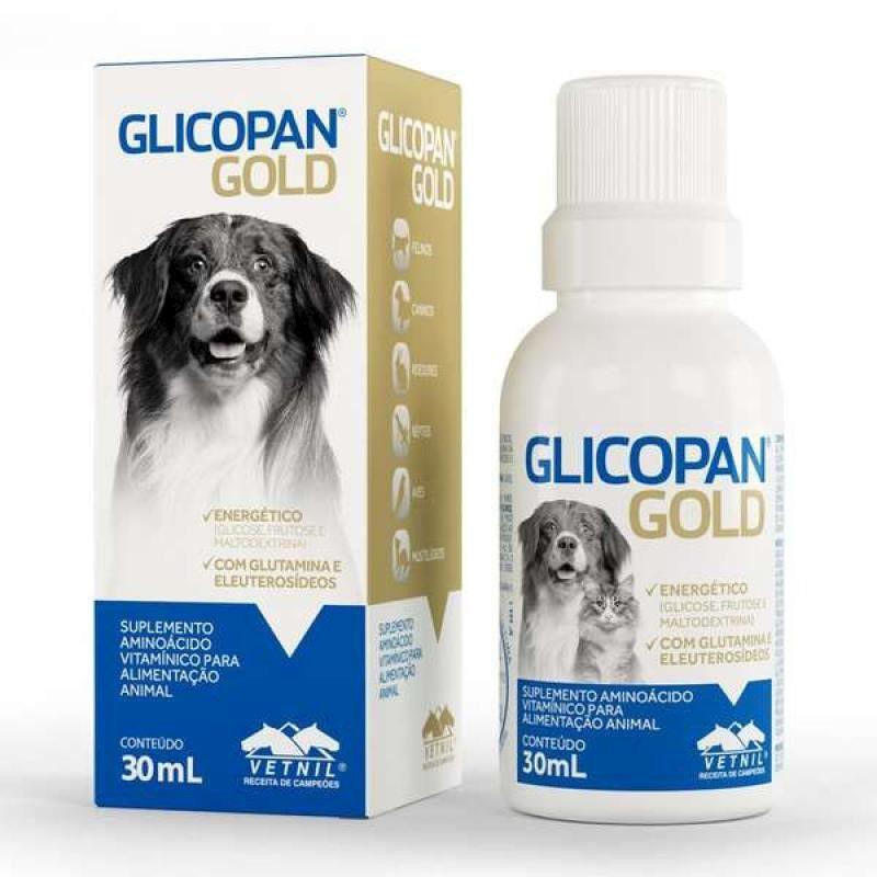 Suplemento Aminoácido Vitamínico para Cães e Gatos Glicopan Gold 30ml - Vetnil