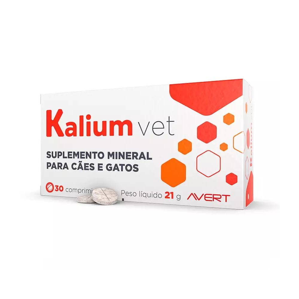 Suplemento Mineral para Cães e Gatos Kalium Vet (30 comprimidos) - Avert