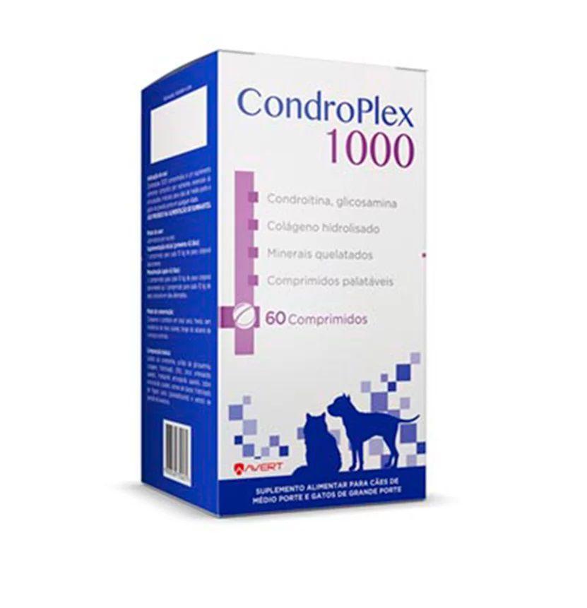 Suplemento para Cães e Gatos Condroplex 1000 - Avert (Validade 06/11/2020)