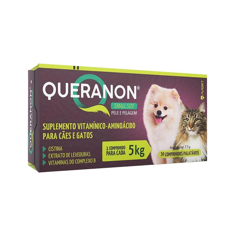 Suplemento para Cães e Gatos Pequenos Queranon 5kg (30 comprimidos) - Avert