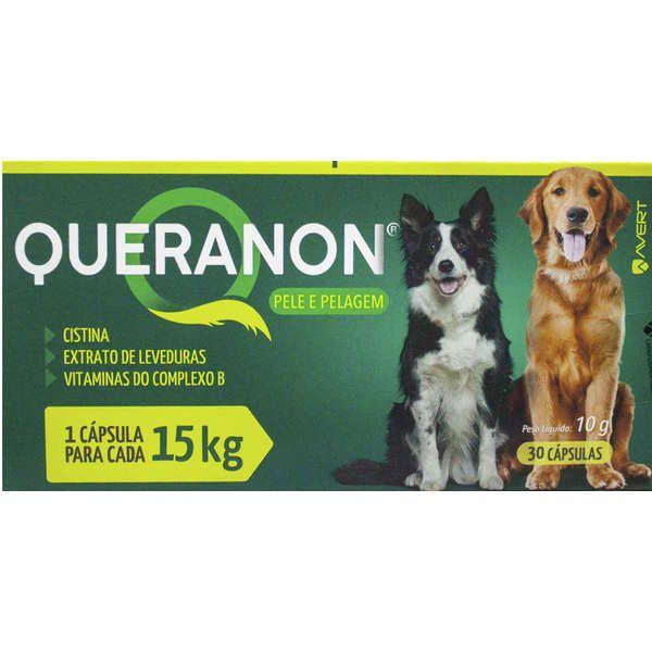 Suplemento para Cães Queranon 15kg (30 cápsulas) - Avert