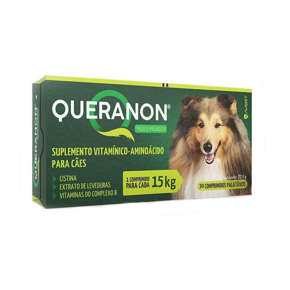 Suplemento para Cães Queranon 15kg (30 comprimidos) - Avert