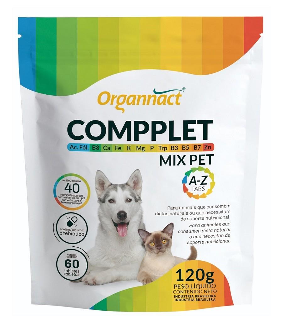 Suplemento Vitamínico para Cães e Gatos Compplet Mix A-Z Tabs 120g - Organnact
