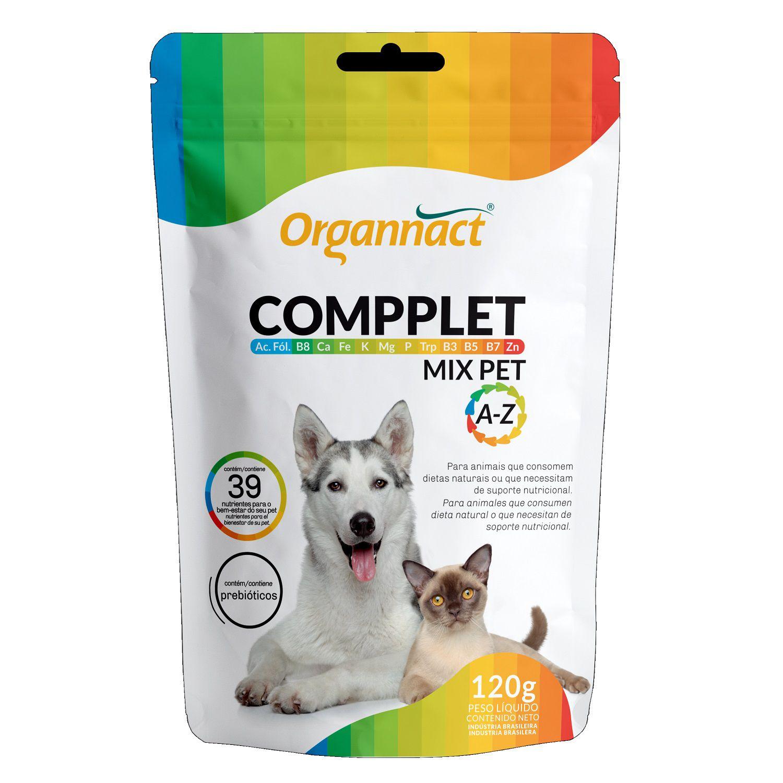 Suplemento Vitamínico para Cães e Gatos Compplet Mix Pet A-Z 120g - Organnact