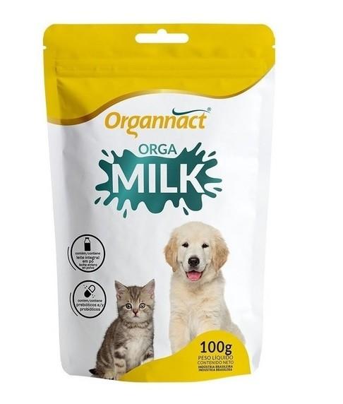 Suplemento Vitamínico para Cães e Gatos Filhotes Orga Milk 100g - Organnact