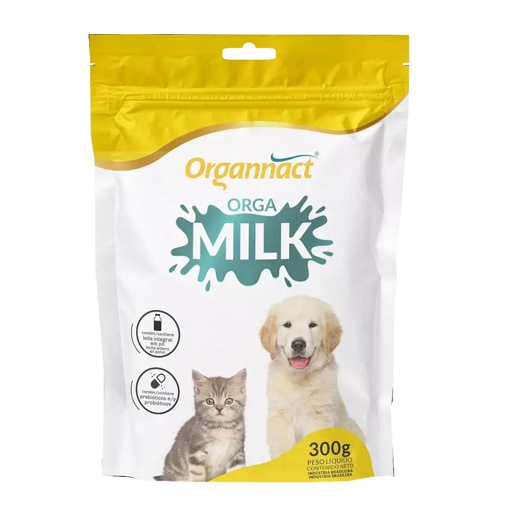 Suplemento Vitamínico para Cães e Gatos Filhotes Orga Milk 300g - Organnact