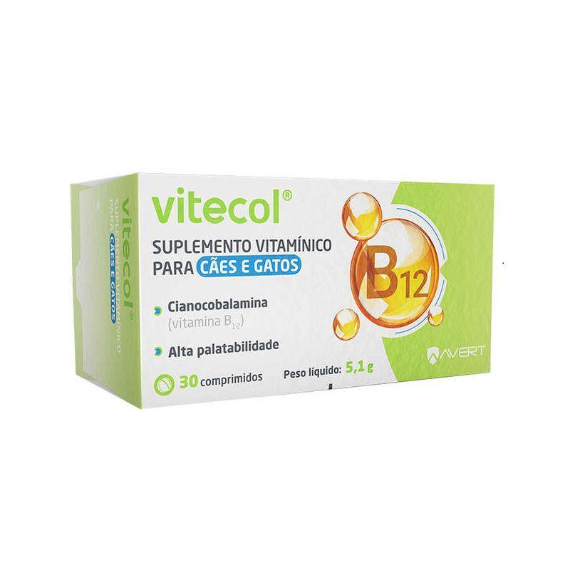 Suplemento Vitamínico para Cães e Gatos Vitecol 5,1g (30 comprimidos) - Avert