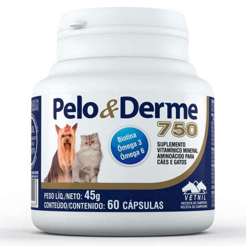 Suplemento Vitaminico Pelo & Derme 750 (45g/60 Capsulas) - Vetnil