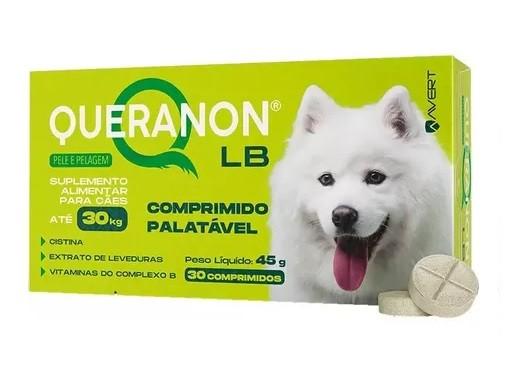 Suplemento Vitamínico Queranon LB 30 Cápsulas para Cães de até 30 kg - Avert