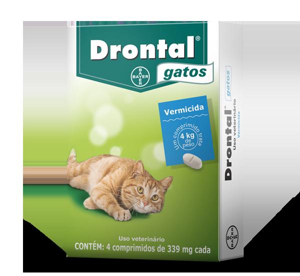 Vermifugo Drontal Gatos com 4 comprimidos - Bayer