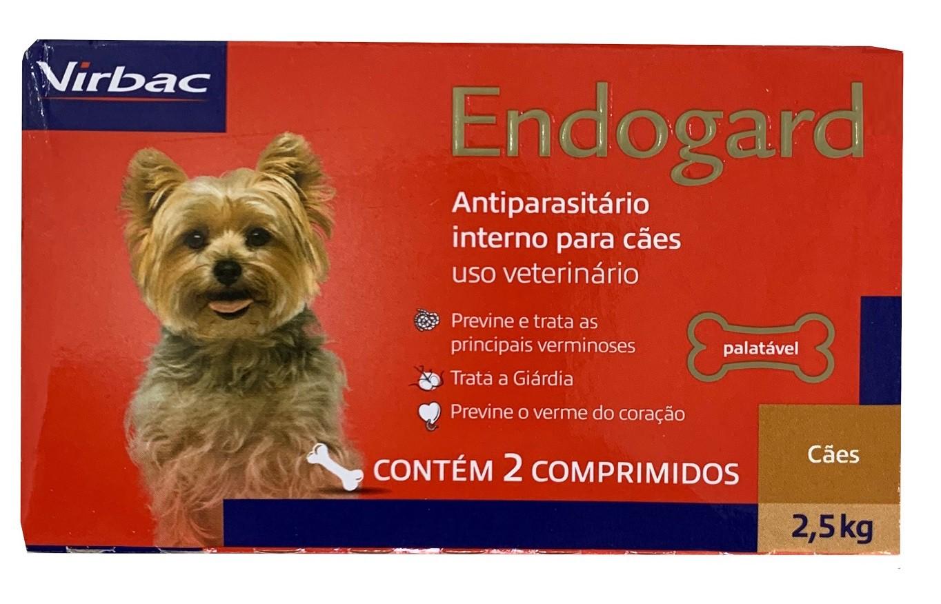 Vermifugo Endogard Para Caes 2,5kg (2 Comprimidos) - Virbac