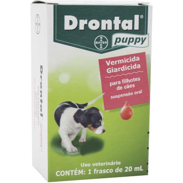 Vermifugo para Cães e Gatos Filhotes Drontal Puppy Suspensão Oral 20ml - Bayer