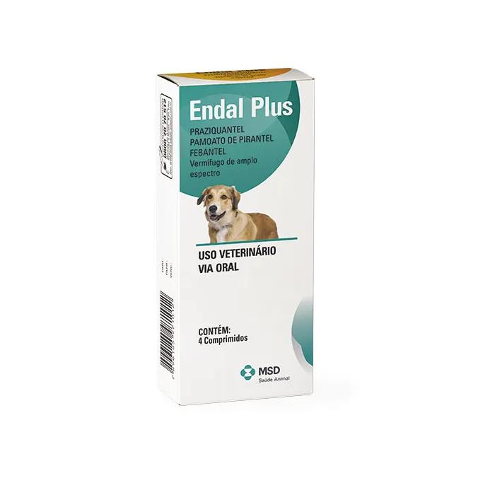 Vermifugo para Cães Endal Plus (4 comprimidos) - MSD Saúde Animal