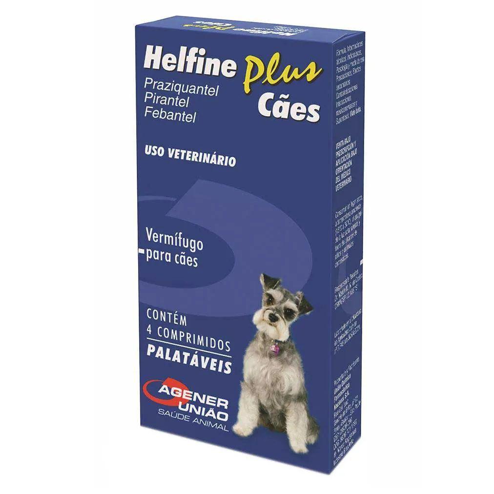 Vermifugo para Cães Helfine Plus (4 comprimidos) - Agener União