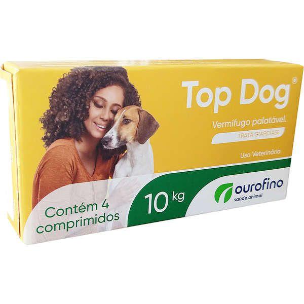 Vermifugo para Cães Top Dog 10kg (4 comprimidos) - Ourofino