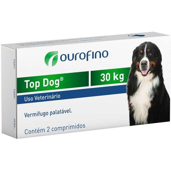 Vermifugo para Cães Top Dog 30kg (2 comprimidos) - Ourofino