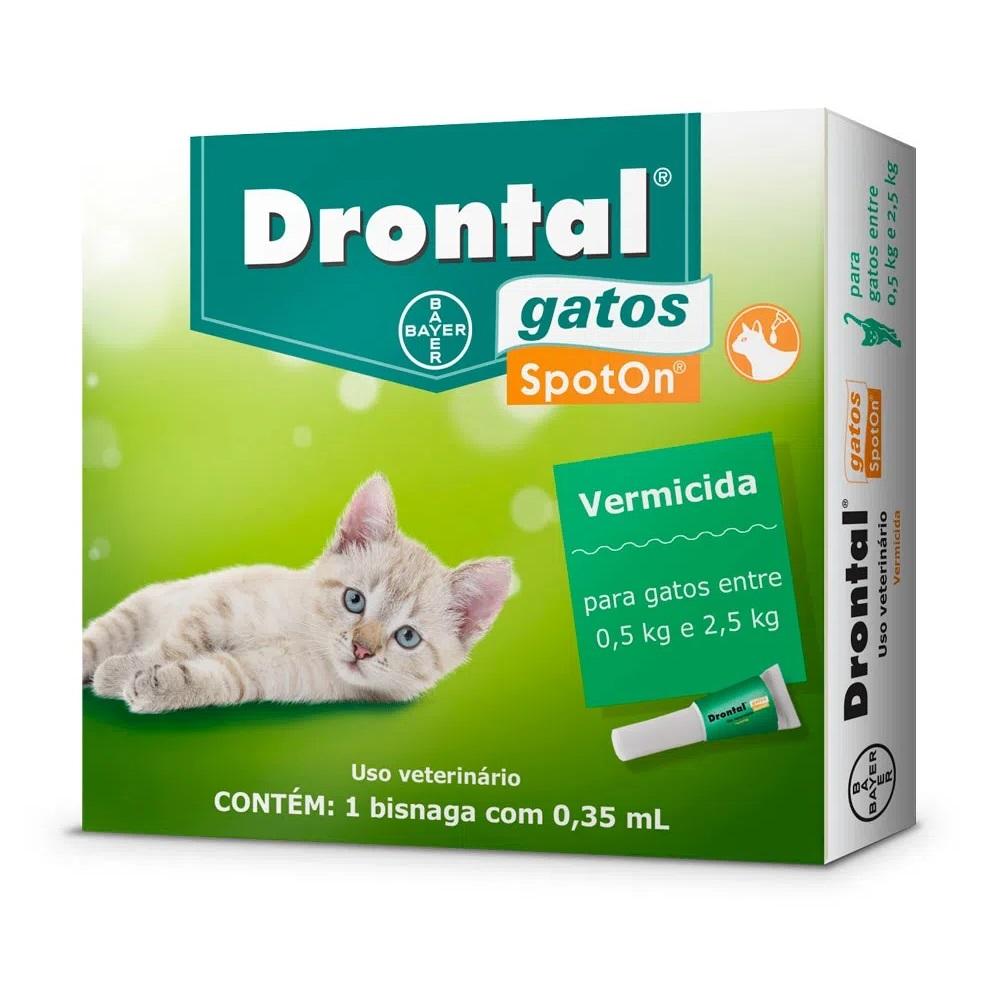 Vermifugo para Gatos de 0,5 a 2,5kg em Pipeta Drontal SpotOn - Bayer