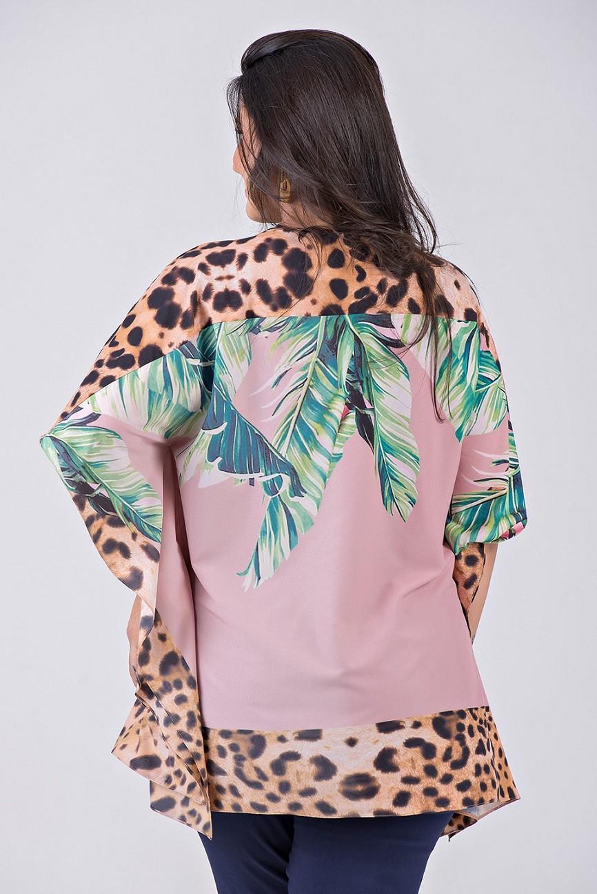 Blusa Lenço Com Decote V em Tecido com Elastano - Plus Size