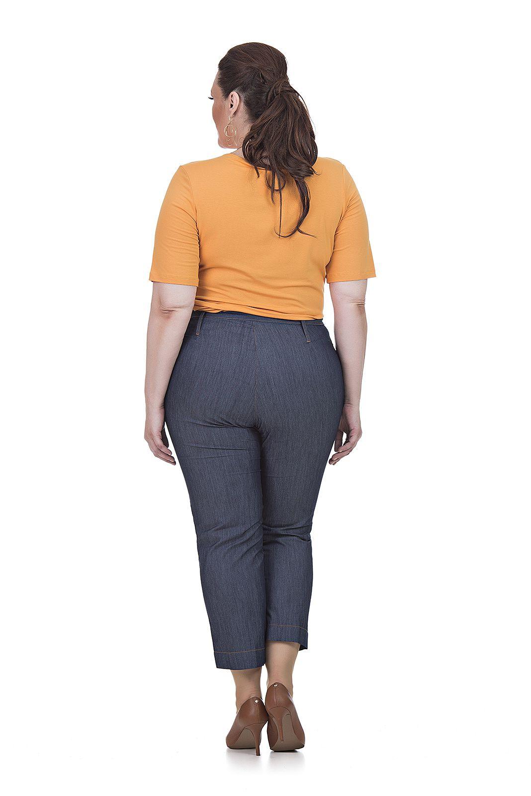 Blusa manga curta de malha Plus Size