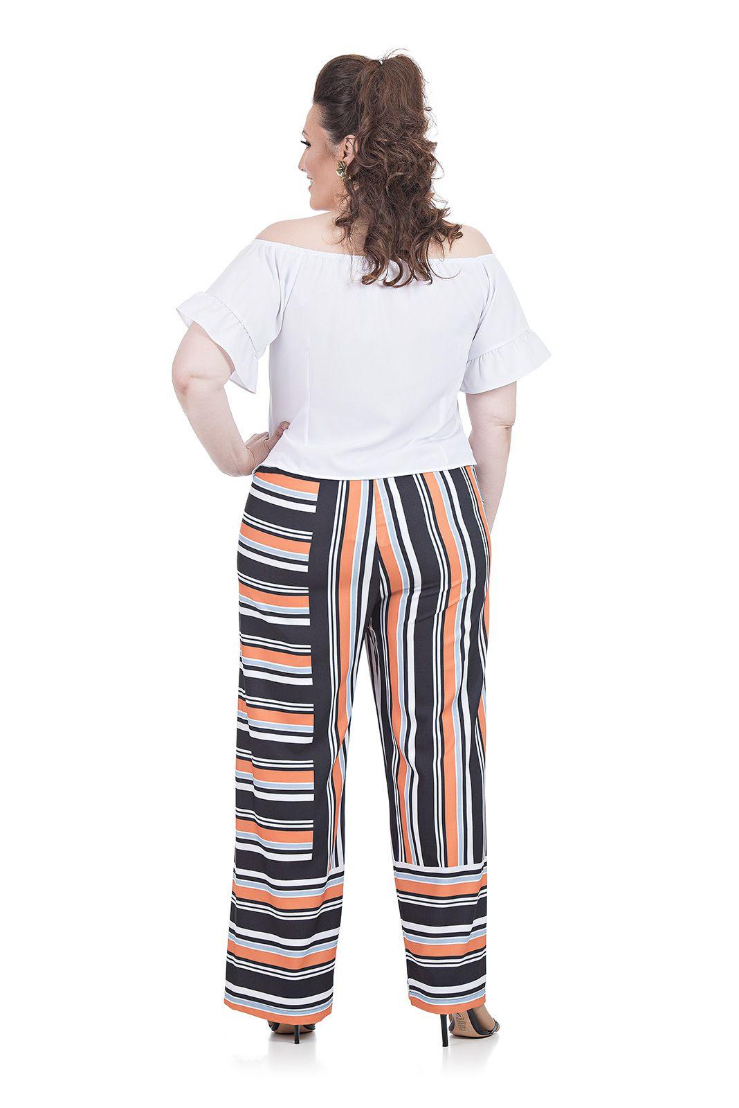 Blusa Ombro a Ombro Plus Size