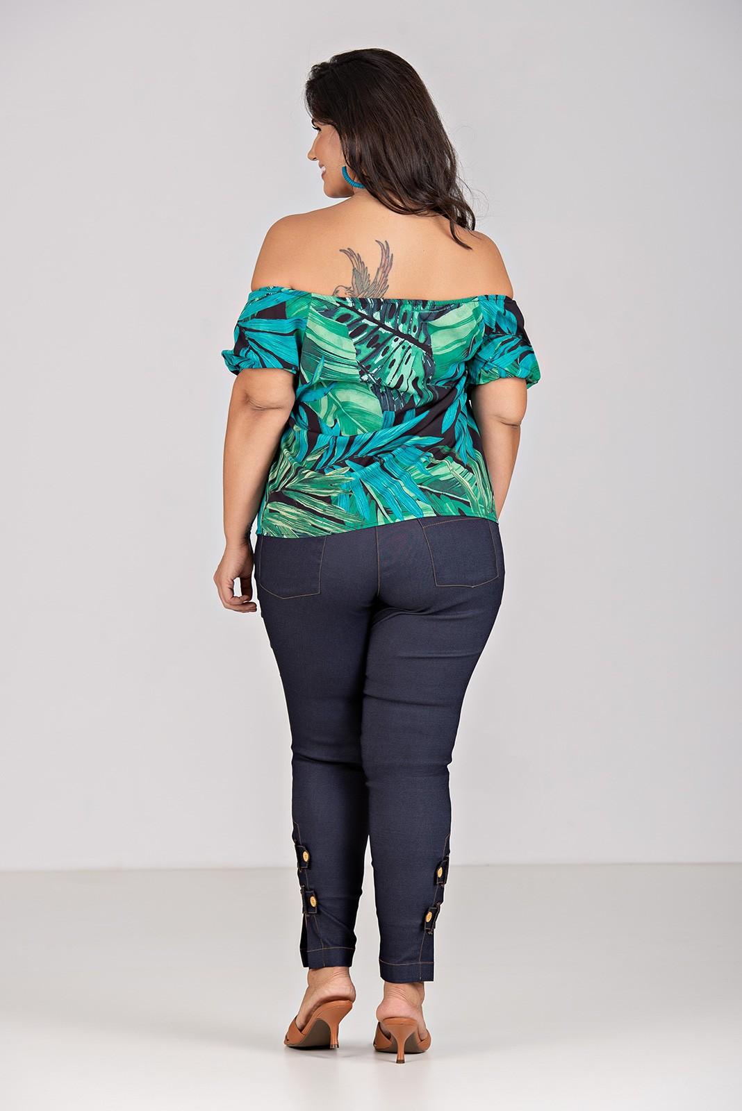 Blusa Ombro a Ombro - Plus Size