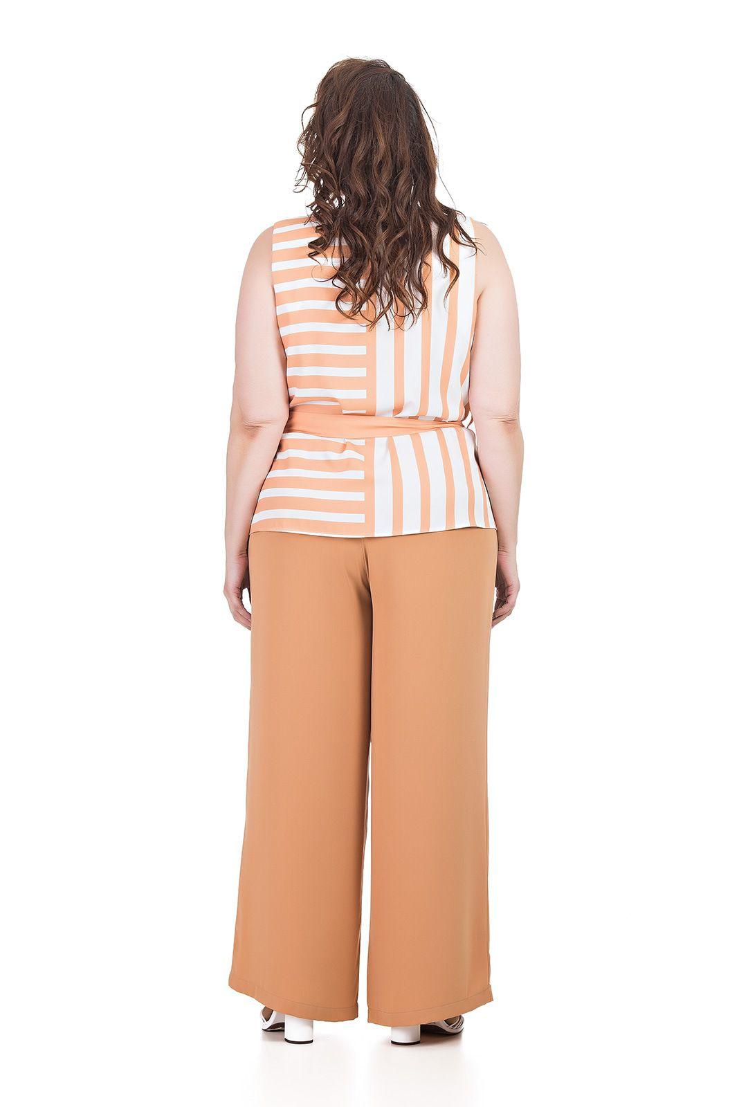 Calça Pantalona, elastico nas costas Plus Size