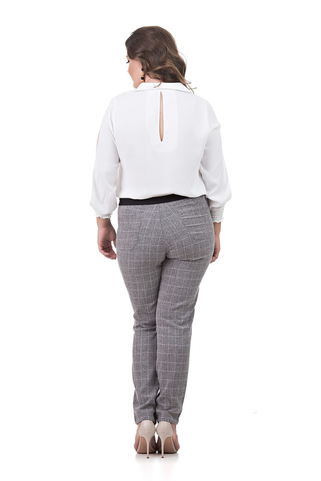 Camisa Manga Longa Plus Size