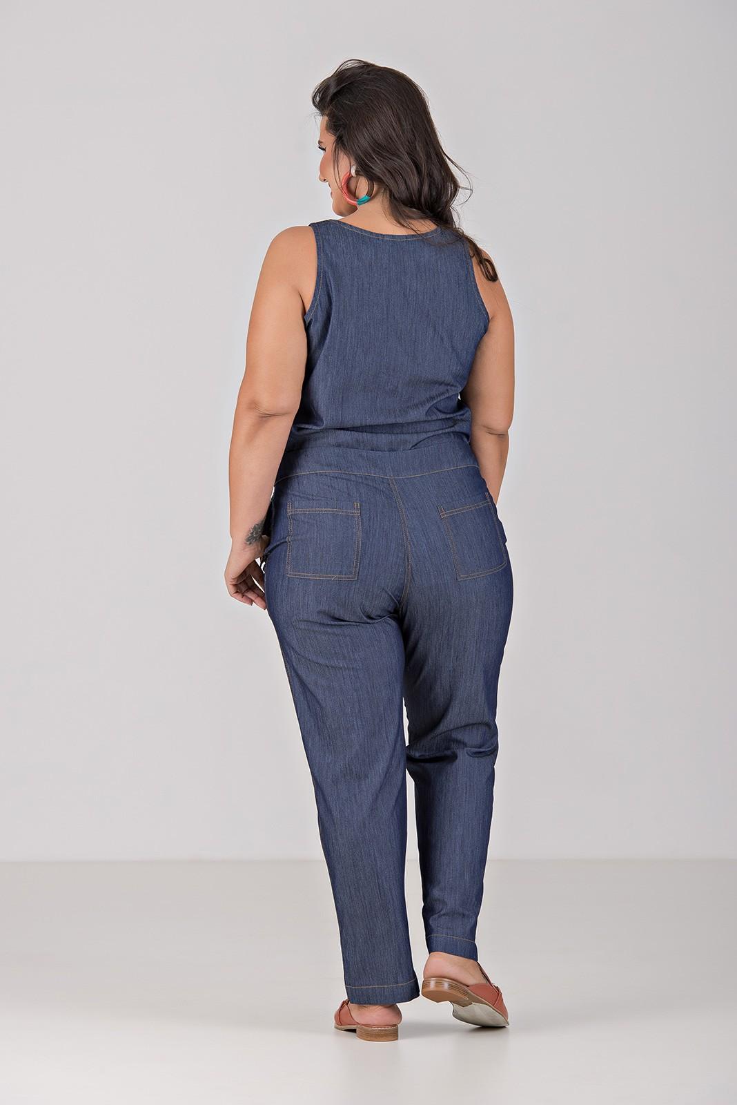 Conjunto Comfy Jeans Com Elastano - Plus Size