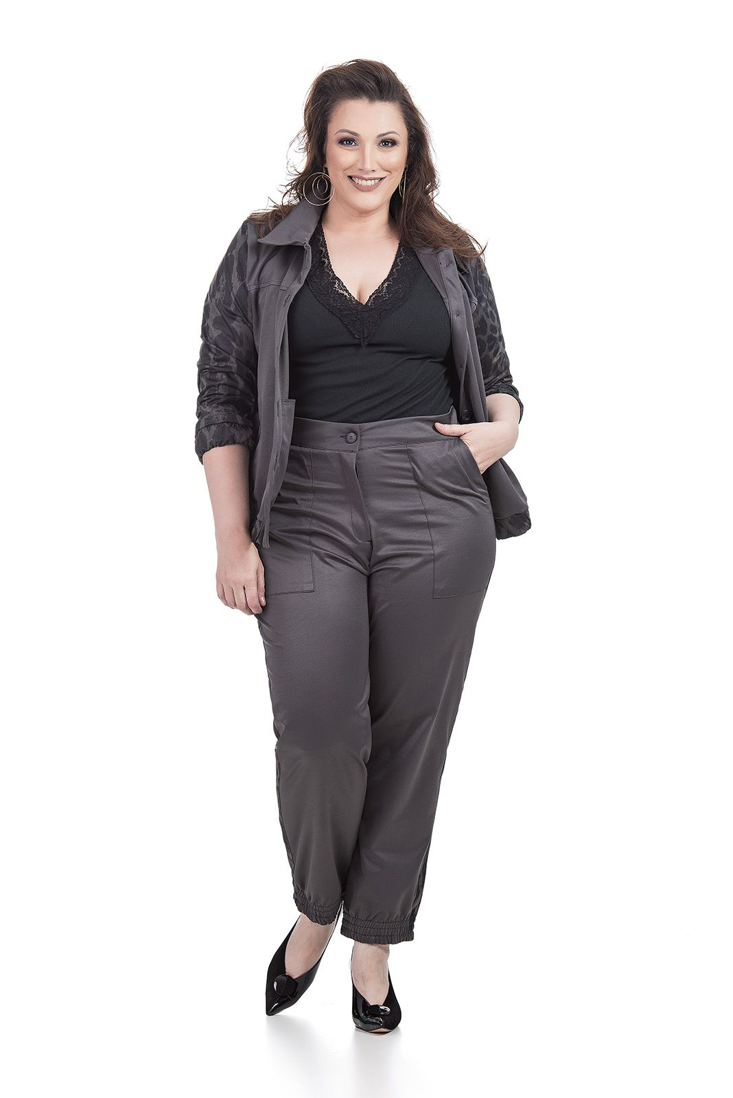 Conjunto Jaqueta Bomber e calça Jaggar Plus Size