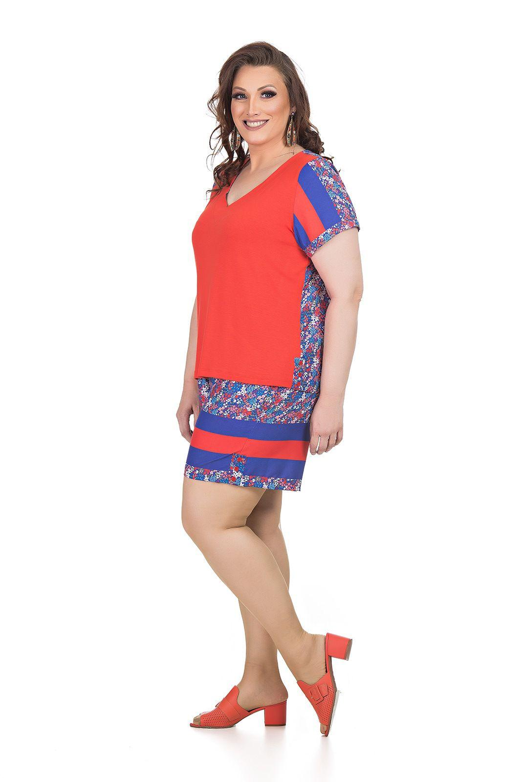 Conjunto Short e Blusa Plus Size