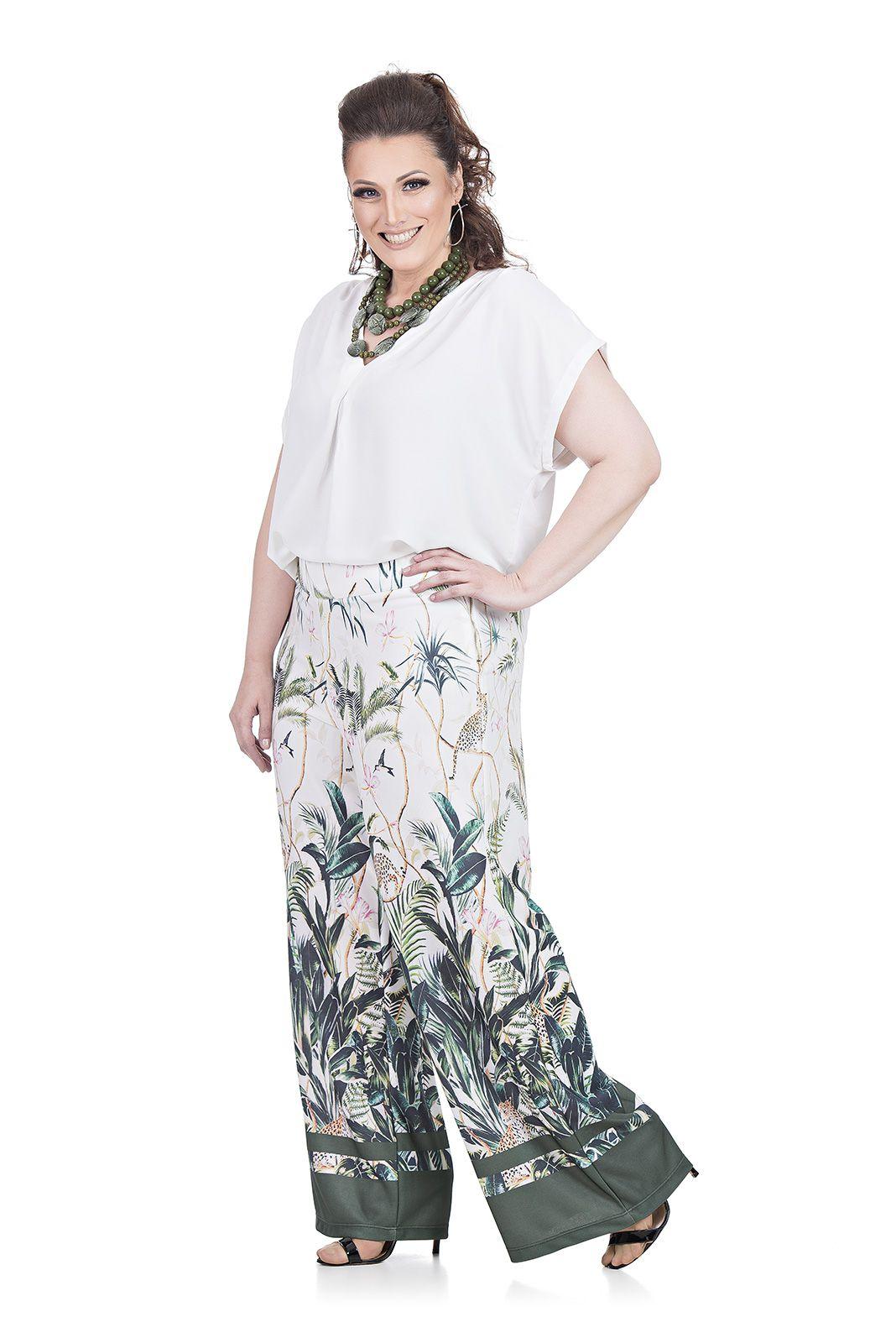 Pantalona em Malha Plus Size