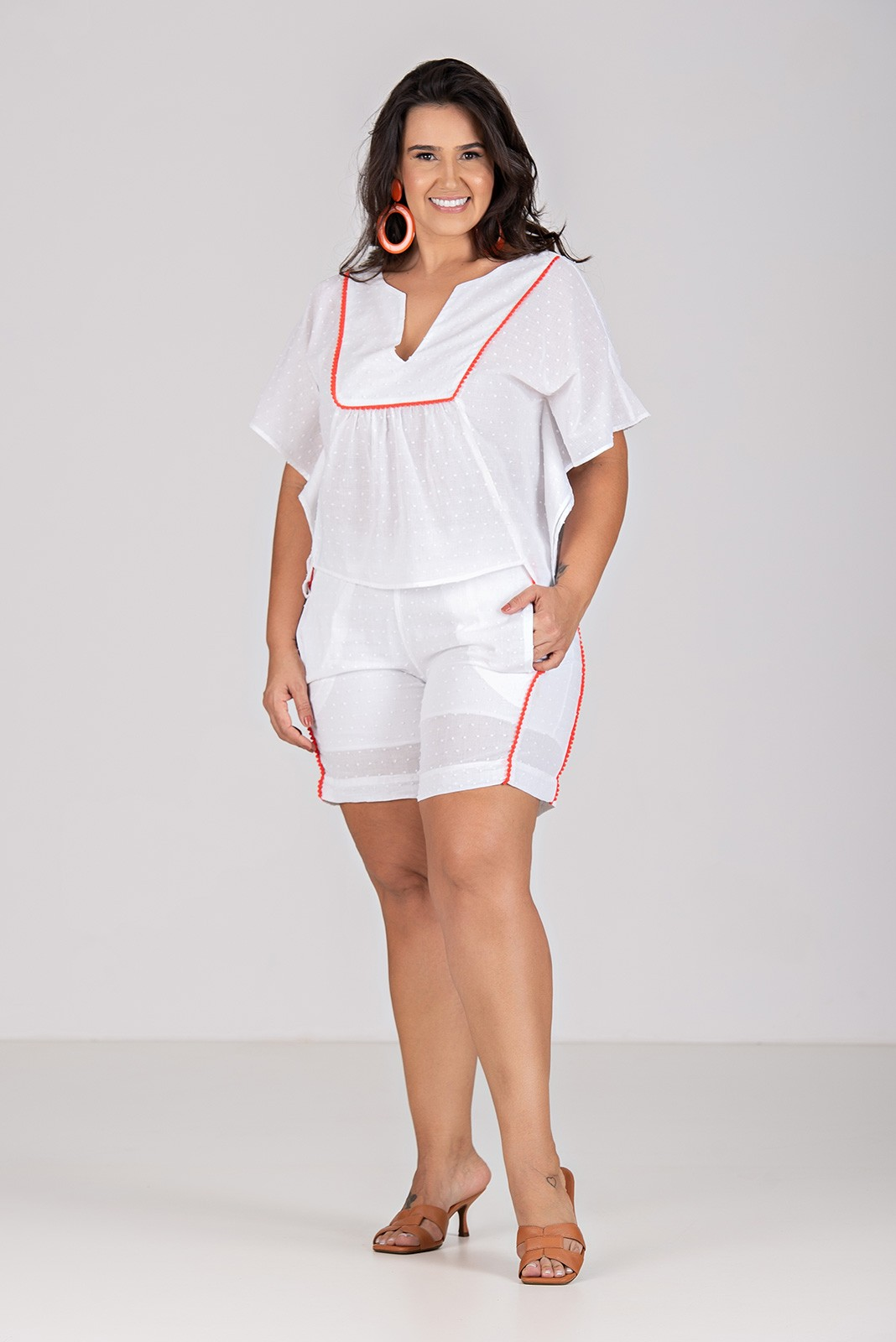 Short com Pompom - Plus Size