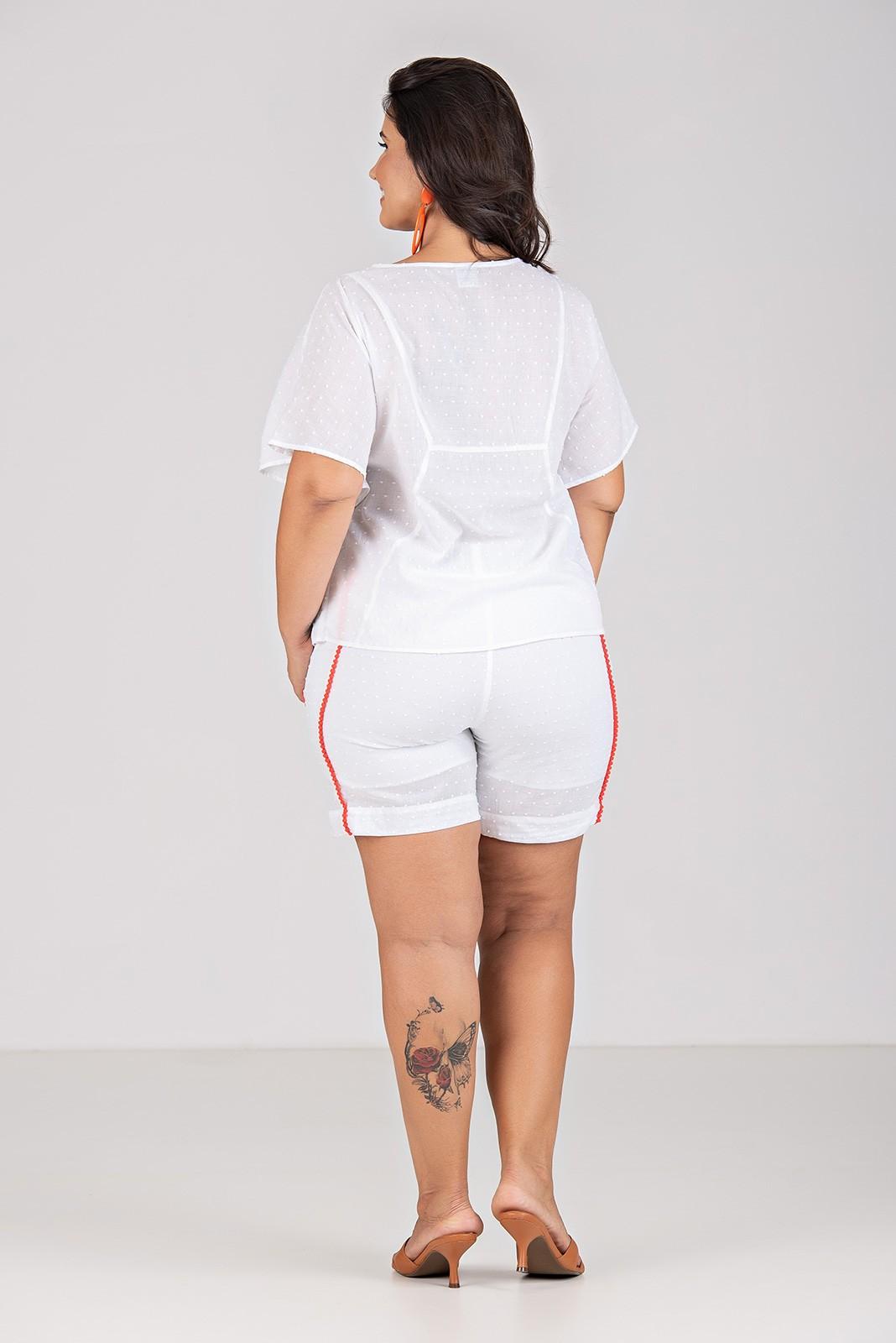Short com Pompom - Plus Size