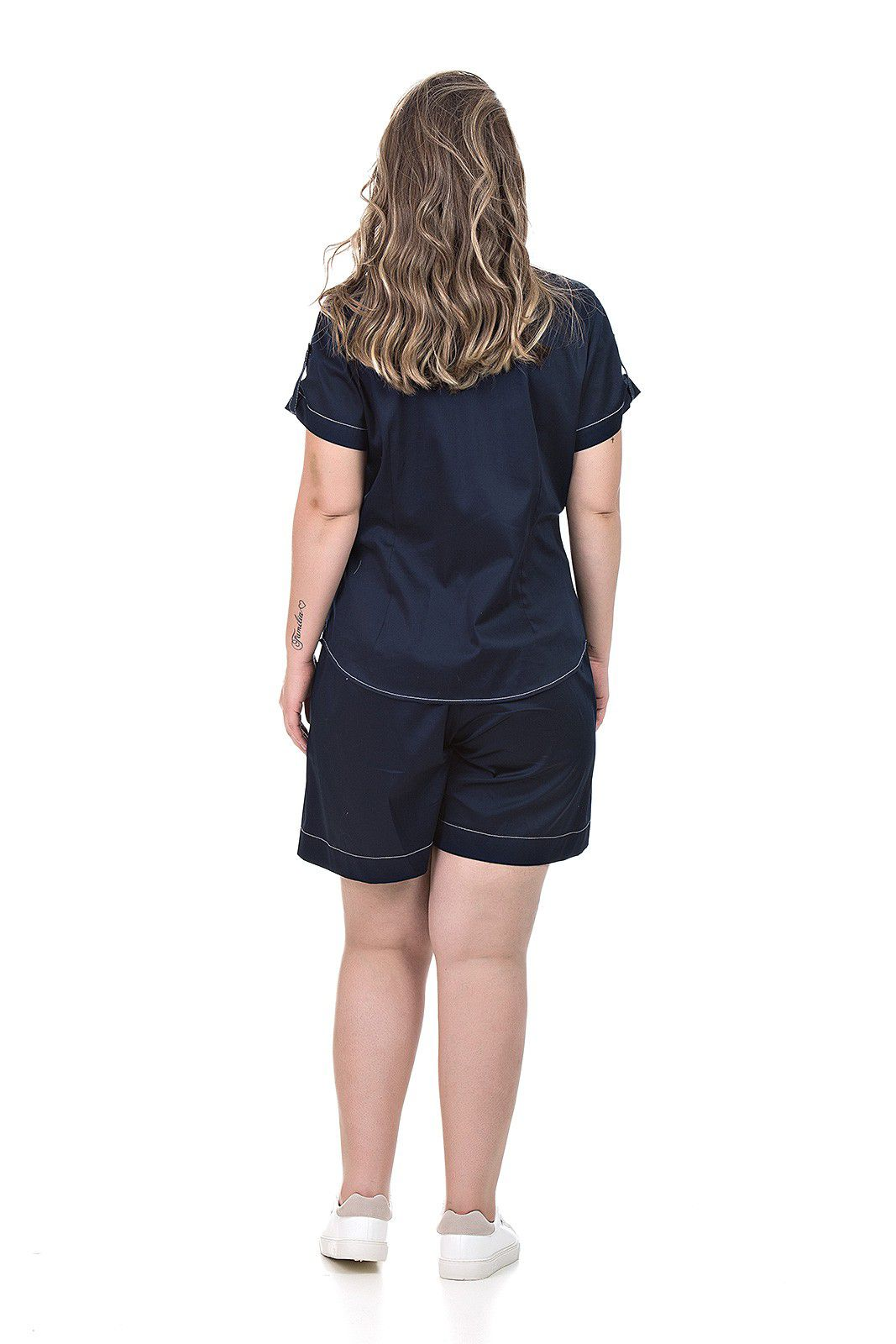 Short tricoline plus size