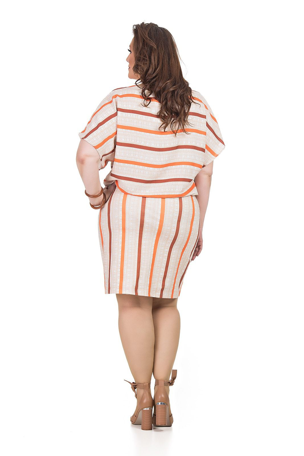 Vestido Bluse malha em plano