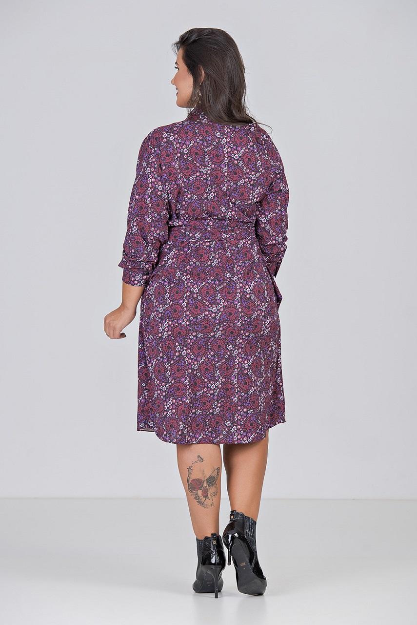 Vestido Cashecouer Com Elastano - Plus Size