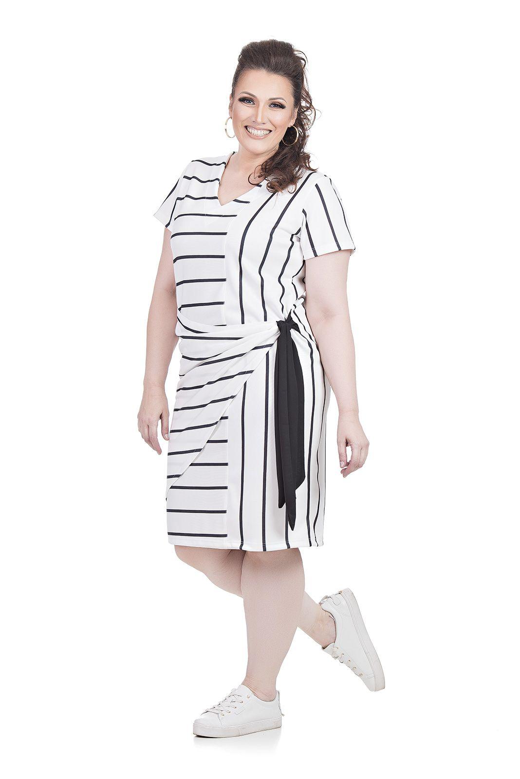 Vestido Com Amarração Plus Size