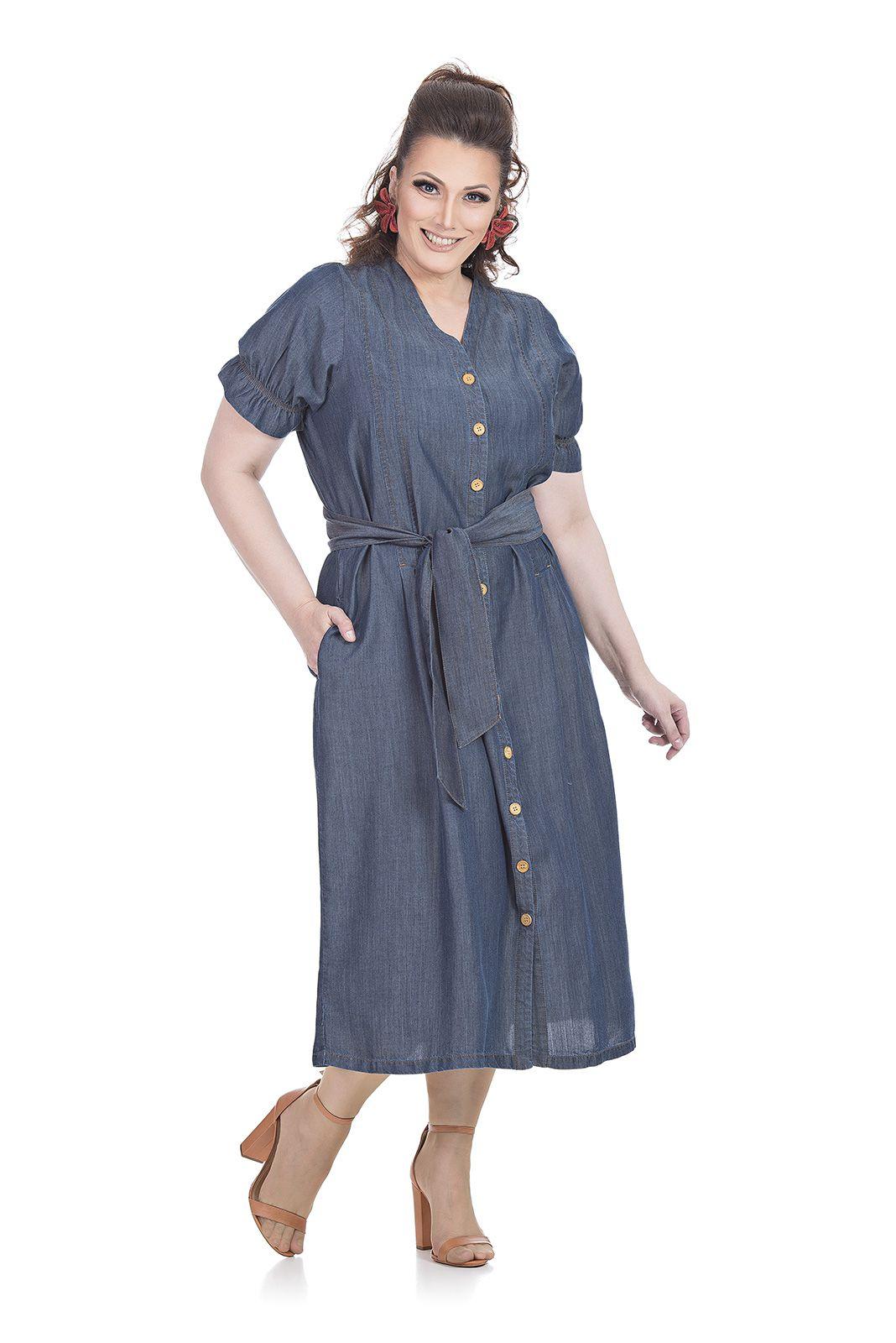 Vestido Midi Plus Size