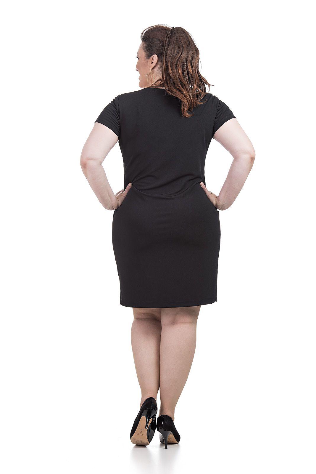 Vestido tubo, curto Plus Size