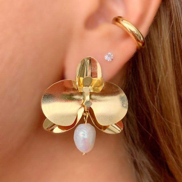 Brinco Orchid pearl