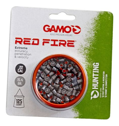 Chumbinho Gamo - Cal. .22 - 15,4 Grains - Red Fire