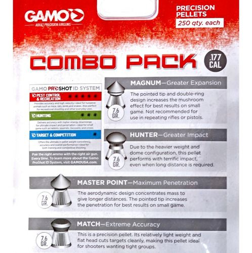 Chumbinho Gamo Combo Pack - Cal. 4,5mm / .177 - Kit Com 4