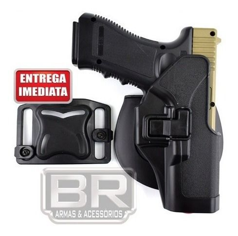 Coldre Tático Ambidestro Glock Mod. 17, 19, 22, 23, 31, 32