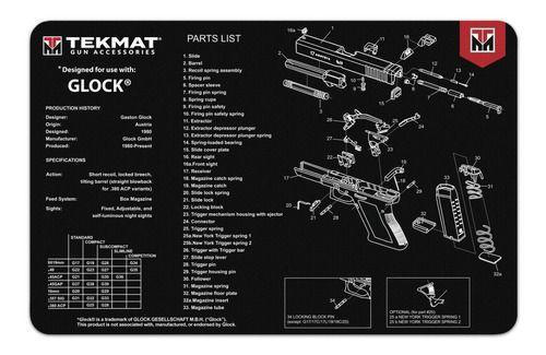 Tapete Tekmat Glock Para Limpeza E Manutenção De Armas