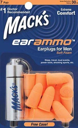 Protetor De Ouvido Esportivo Macks´s Ear Ammo C/ Case