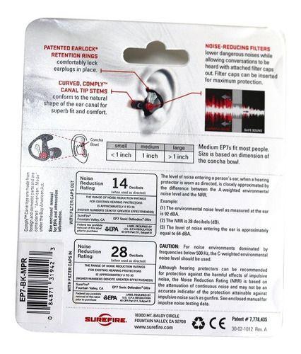 Protetor Auricular Sure Fire Ep7